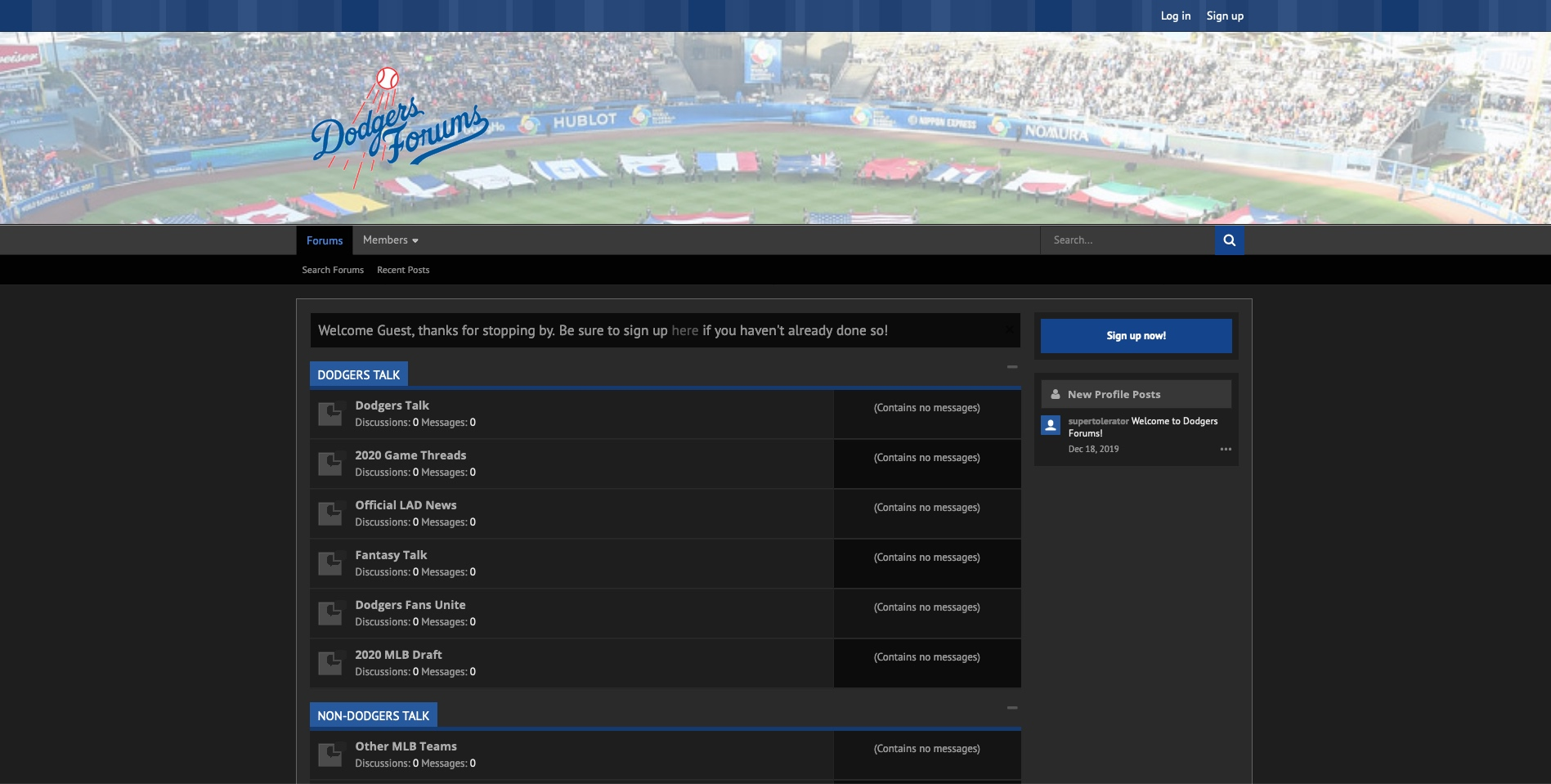 Dodgers Forums Dark Theme
