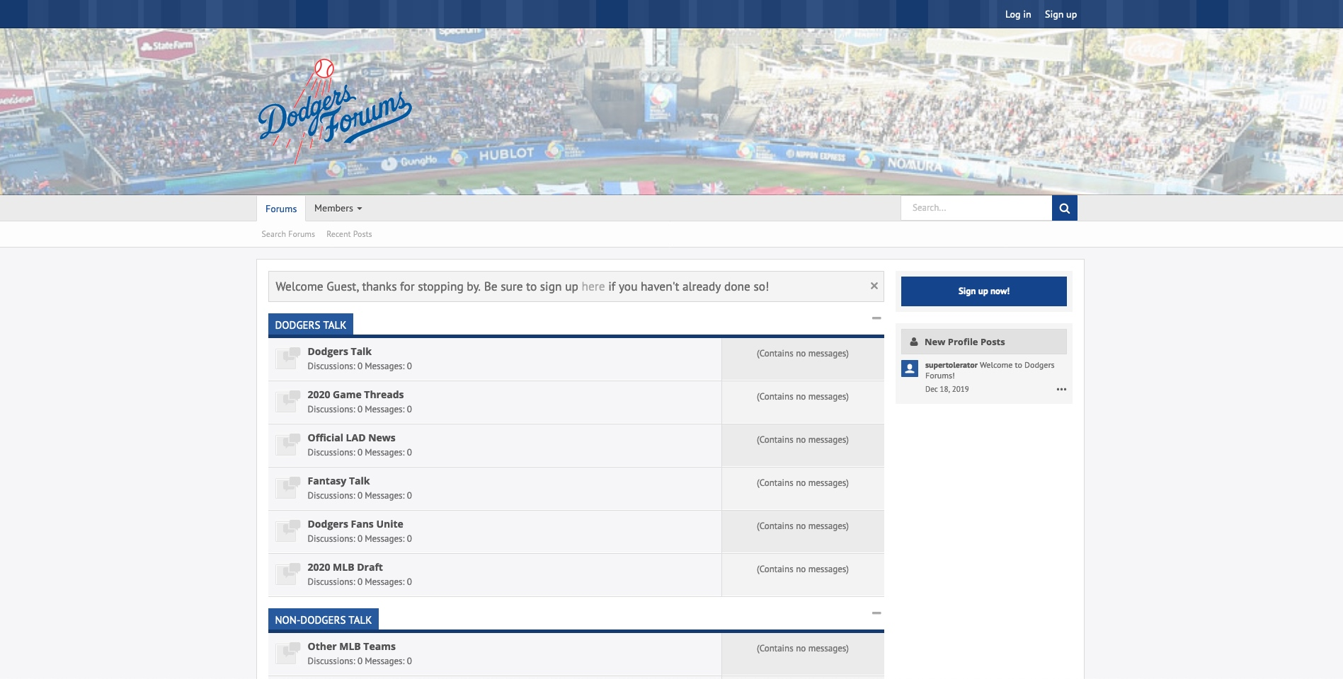 Dodgers Forums Light Theme
