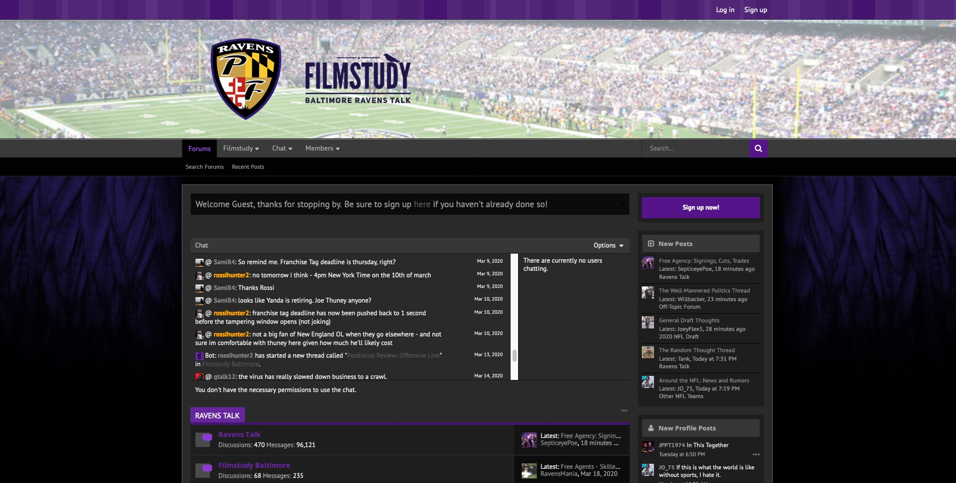 PurpleFlock Forums Dark Theme