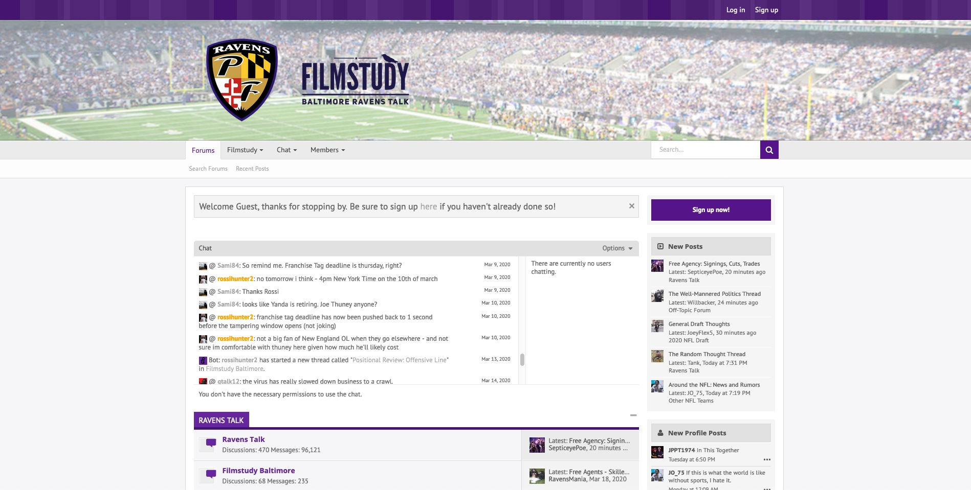 PurpleFlock Forums Light Theme