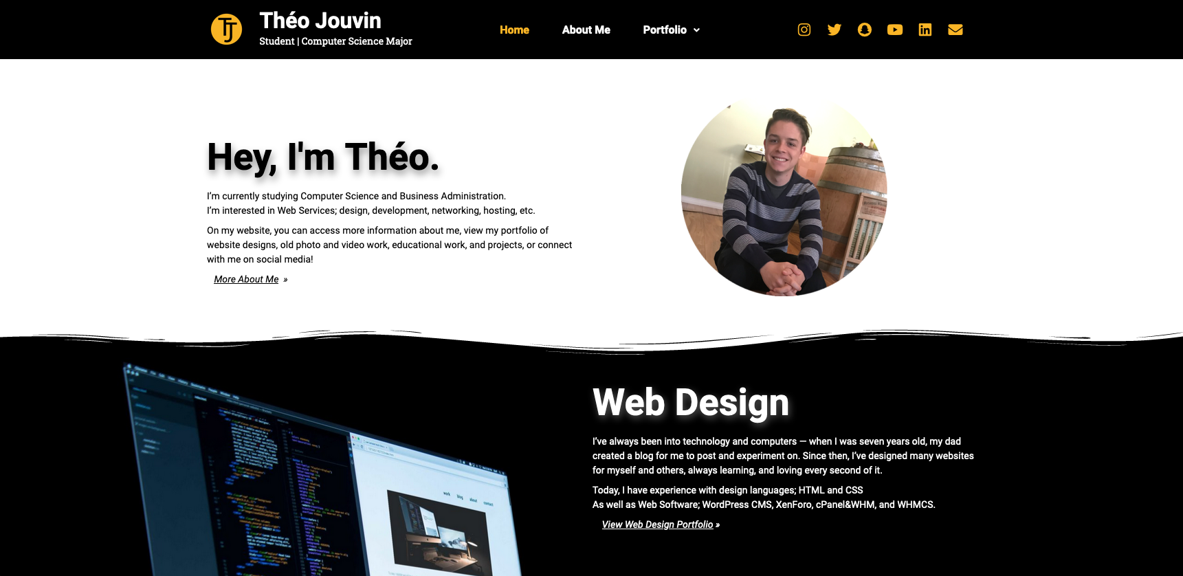 Personal Site Main Page (1 of 3)
