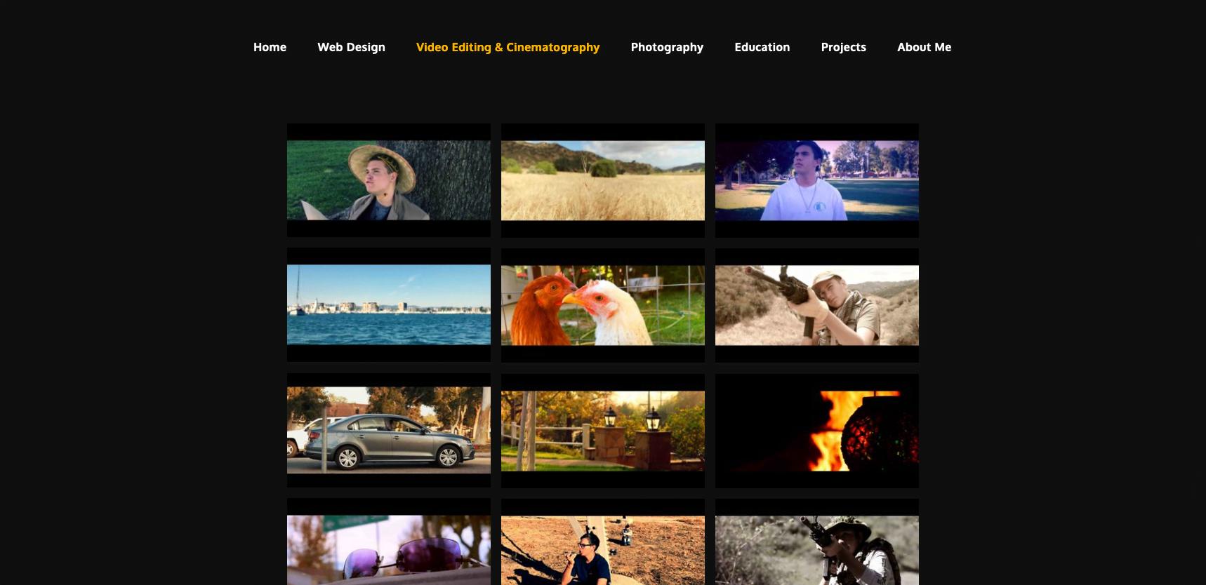 Portfolio Site Video Page